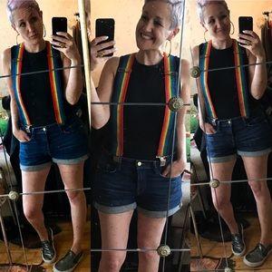 Vintage Rainbow Suspenders 🌈